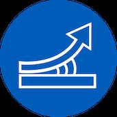 stretching arrow icon