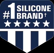 #1 silicone brand badge